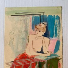 Arte: JOAN PALET BATISTA - MUJER SEMIDESNUDA. Lote 177305583