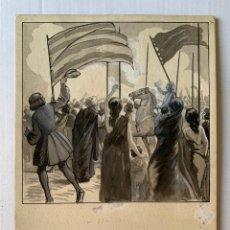 Arte: CIDÓN, FRANCISCO DE CIDÓN NAVARRO - LLEGADA TRIUNFAL. Lote 177306050
