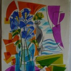 Arte: XAVIER CLARÉS. ACUARELA SOBRE PAPEL. 44 X 30 CM. . Lote 177381515