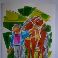 Arte: XAVIER CLARÉS. ACUARELA SOBRE PAPEL. 34'5 X 25 CM. . Lote 177382178