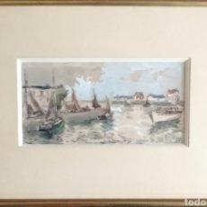 Arte: PRECIOSA ACUARELA FIRMADA Y DEDICADA.. Lote 177458917