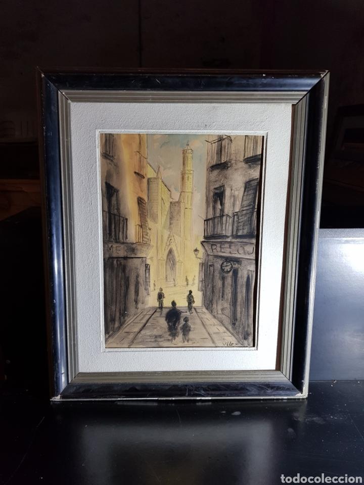 Arte: Acuarela de Calle de Barcelona por Antonio Velez - Foto 3 - 177778968