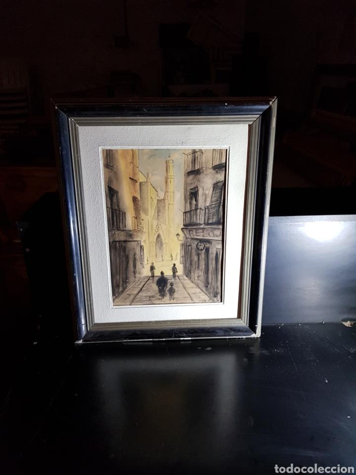 Arte: Acuarela de Calle de Barcelona por Antonio Velez - Foto 4 - 177778968