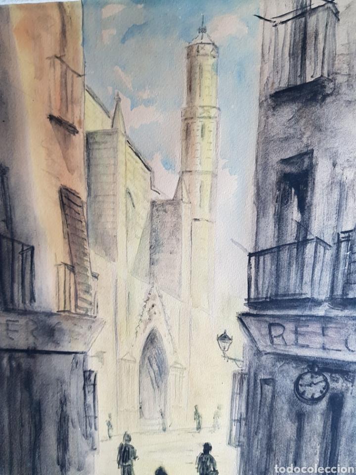 Arte: Acuarela de Calle de Barcelona por Antonio Velez - Foto 6 - 177778968