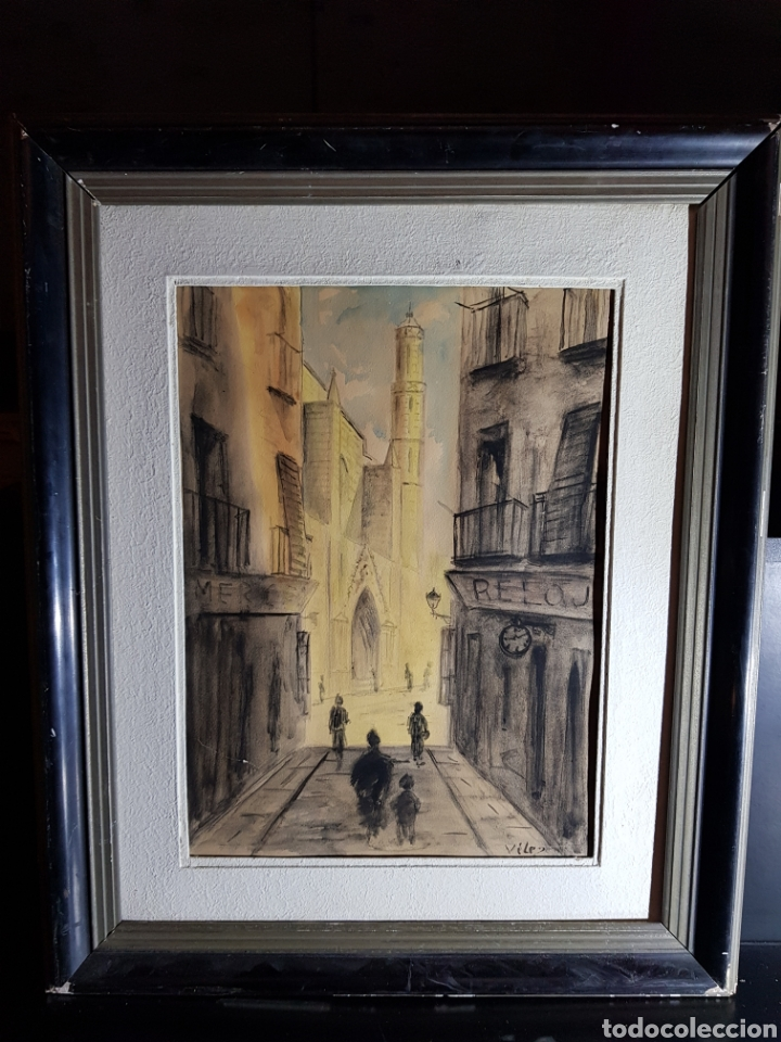 Arte: Acuarela de Calle de Barcelona por Antonio Velez - Foto 7 - 177778968