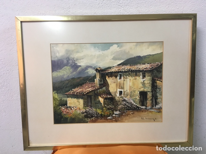 Arte: Acuarela firmada por Joan Vila Arimany - Foto 2 - 177800623