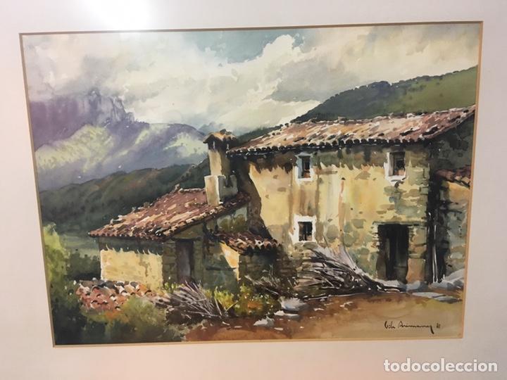 Arte: Acuarela firmada por Joan Vila Arimany - Foto 4 - 177800623
