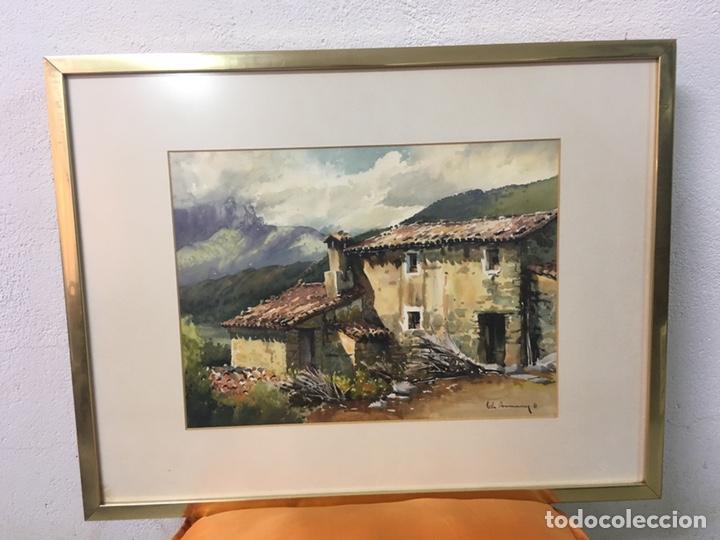 ACUARELA FIRMADA POR JOAN VILA ARIMANY (Arte - Acuarelas - Contemporáneas siglo XX)