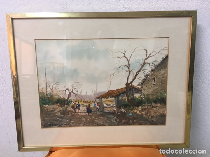 Arte: Acuarela firmada por Felipe Brugueras Pallach - Foto 2 - 177801530