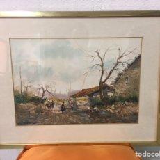 Arte: ACUARELA FIRMADA POR FELIPE BRUGUERAS PALLACH. Lote 177801530