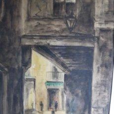 Arte: CALLE DE BARCELONA POR ANTONIO VELEZ. Lote 177821763