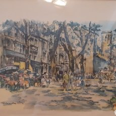 Arte: ACUARELA. CASANOVAS. ENMARCADO.. Lote 177880158