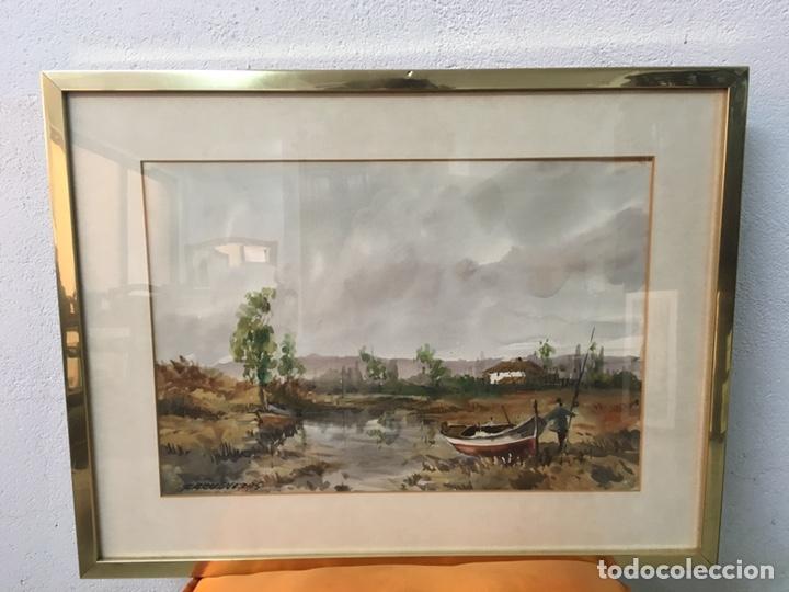 Arte: Acuarela firmada por Felipe Brugueras Pallach - Foto 4 - 177999144