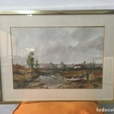 Arte: ACUARELA FIRMADA POR FELIPE BRUGUERAS PALLACH. Lote 177999144