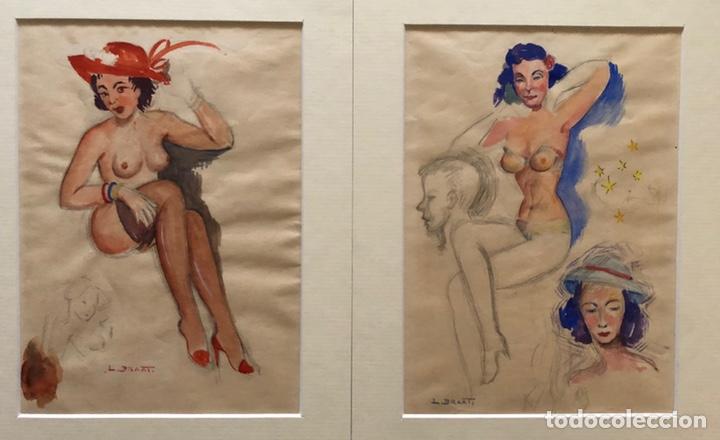 DIBUJOS ACUARELADOS EROTICOS (Arte - Acuarelas - Contemporáneas siglo XX)