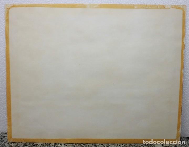 Arte: ACUARELA SOBRE PAPEL - PASTORA CON REBAÑO DE OVEJAS - FIRMA ILEGIBLE - SEGUNDA MITAD SIGLO XX - Foto 9 - 178047213