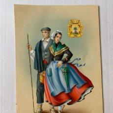 Arte: MARIA ROSA GARCÍA CASAS - PAREJA CON TRAJE TÍPICO REGIONAL. DIBUJO ORIGINAL FIRMADO. Lote 178134397