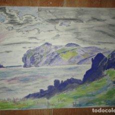 Arte: ANTIGUA ACUARELA FIRMADA CIRCA EN ALICANTE 1932. Lote 178164417