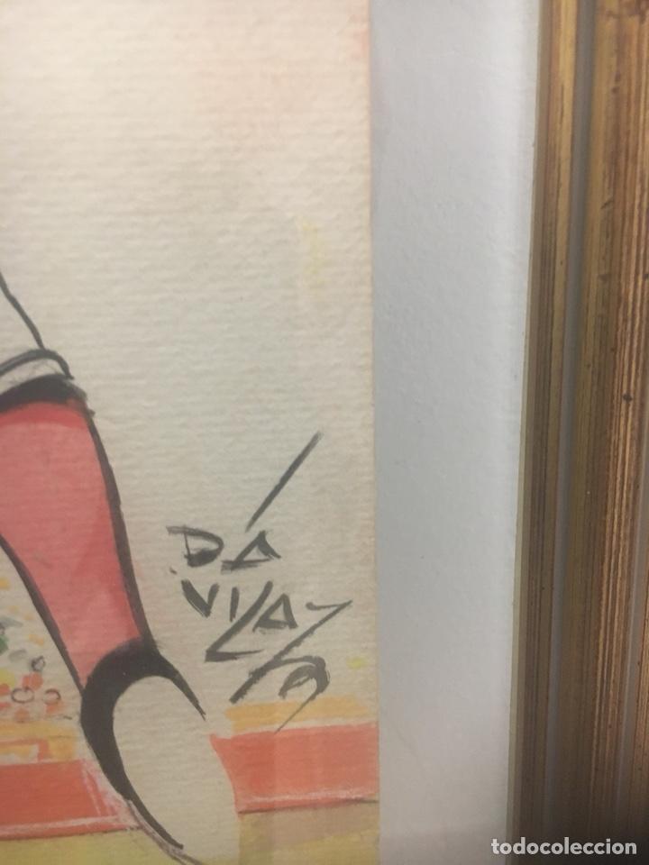 Arte: Oportunidad. Pareja acuarelas toreros Paquirri y Antoñete. Firmado Jose Luis Dávila - Foto 4 - 178299611