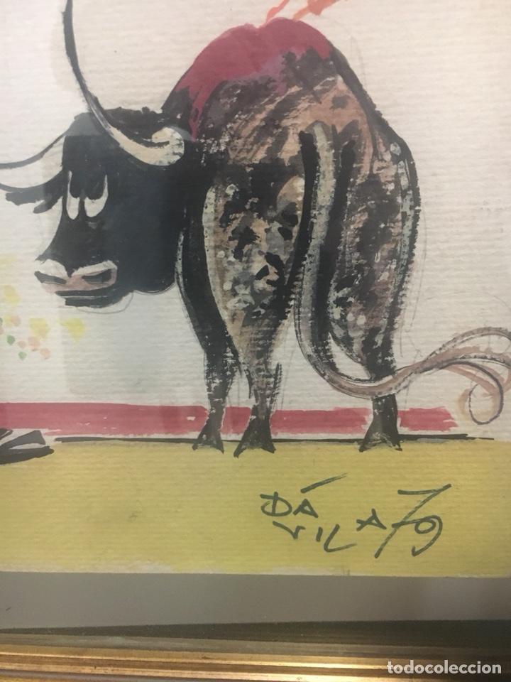 Arte: Oportunidad. Pareja acuarelas toreros Paquirri y Antoñete. Firmado Jose Luis Dávila - Foto 5 - 178299611