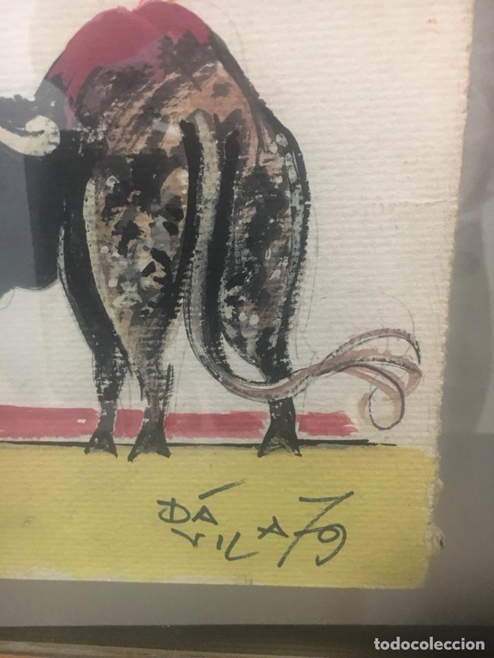 Arte: Oportunidad. Pareja acuarelas toreros Paquirri y Antoñete. Firmado Jose Luis Dávila - Foto 6 - 178299611
