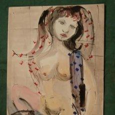 Arte: PINTURA DESNUDO, DEL CONOCIDO PINTOR JOSEP TAPIOLA GIRONELLA. Lote 178344892