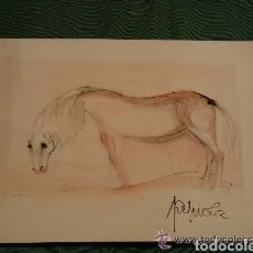 Arte: PINTURA CABALLO, DEL CONOCIDO PINTOR JOSEP TAPIOLA GIRONELLA. Lote 178352731