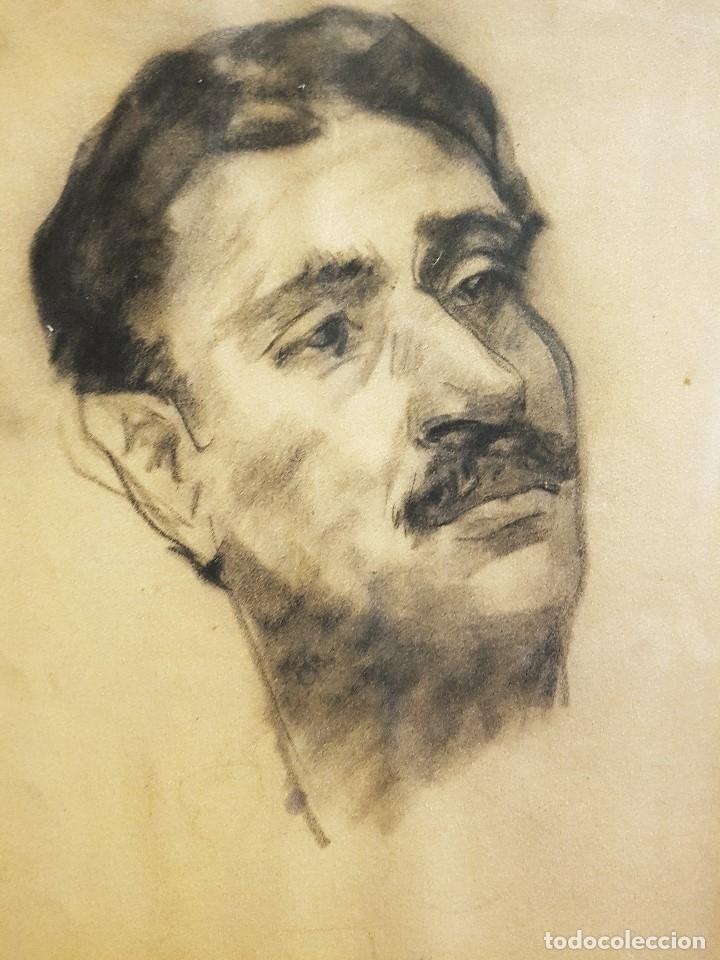 Arte: GENÁRO LAHUERTA LÓPEZ (VALENCIA, 1905-1985) 3 RETRATOS DE AMÉRIGO, ACUARELA / PAPEL 51 x 37 - Foto 4 - 178363210
