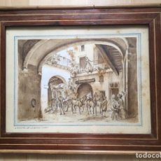 Arte: L'HOSTAL DE LA BONA SORT OBRA DE JOSE CLAPERA COROMINAS. Lote 178565032