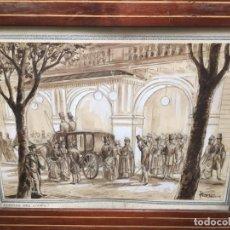 Arte: SORTIDA DEL LICEO OBRA DE JOSE CLAPERA COROMINAS. Lote 178567475