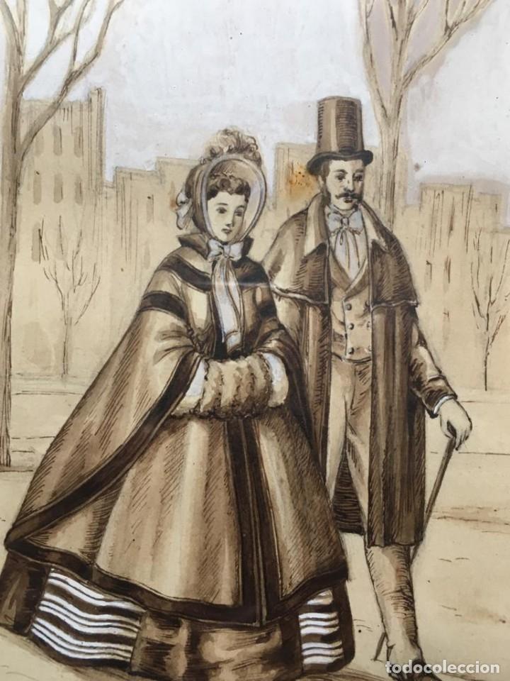 Arte: Escena costumbrista con pareja obra de JOSE CLAPERA COROMINAS - Foto 2 - 178570716