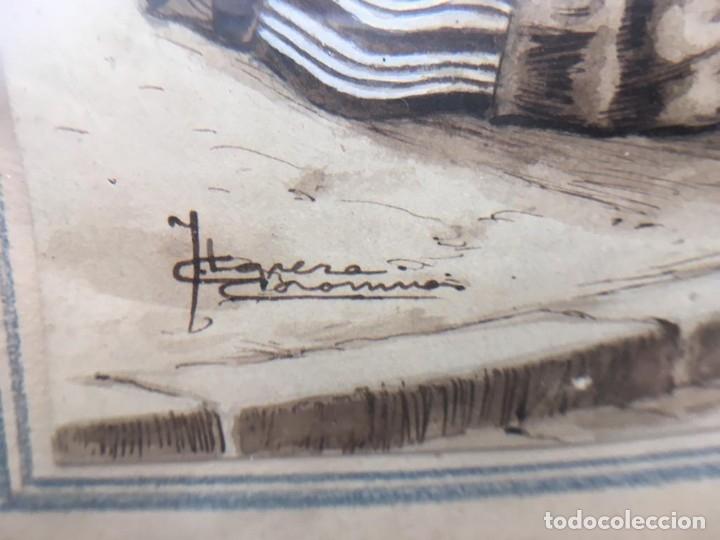 Arte: Escena costumbrista con pareja obra de JOSE CLAPERA COROMINAS - Foto 5 - 178570716