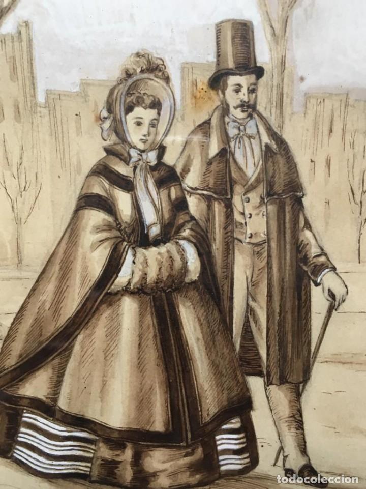 Arte: Escena costumbrista con pareja obra de JOSE CLAPERA COROMINAS - Foto 7 - 178570716