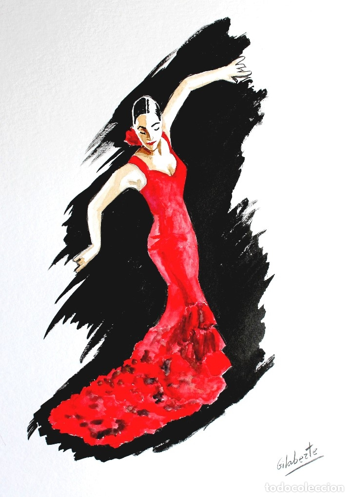 Arte: Bailaora obra de Gilaberte - Foto 2 - 178732352