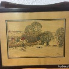 Arte: DIBUJO/ACUARELA FIRMADA POR HARRY ELIOTT. Lote 178804735