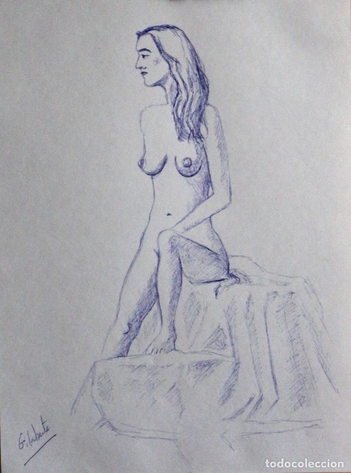 MODELO OBRA DE GILABERTE (Arte - Acuarelas - Contemporáneas siglo XX)