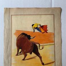 Arte: MALAGRAVA - ESCENA TAURINA. Lote 178888430