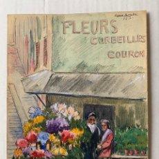Arte: CASIO BOADA, CASIMIRO BOADA MATAS - FLEURS CORBEILLES COURON. PARÍS 1927. Lote 178889795