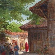 Arte: ACUARELA ORIENTALISTA CIRCA 1900. Lote 178929346