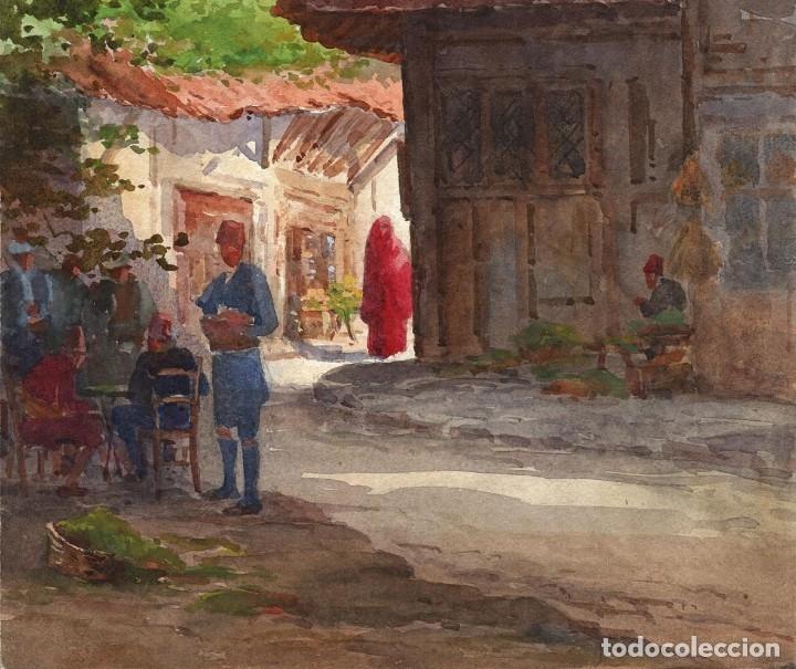Arte: Acuarela Orientalista Circa 1900 - Foto 2 - 178929346