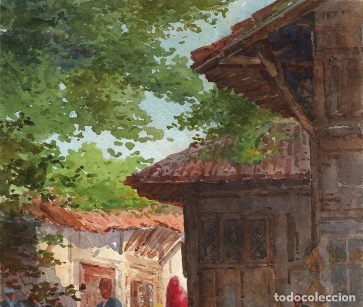 Arte: Acuarela Orientalista Circa 1900 - Foto 3 - 178929346