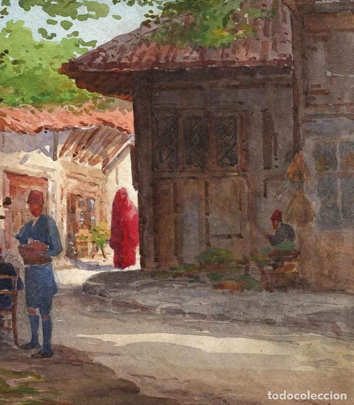 Arte: Acuarela Orientalista Circa 1900 - Foto 5 - 178929346