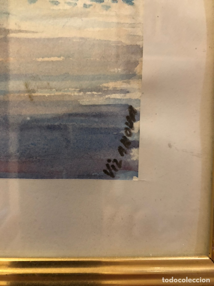 Arte: 2 acuarelas marinas con firma - Foto 2 - 178981087