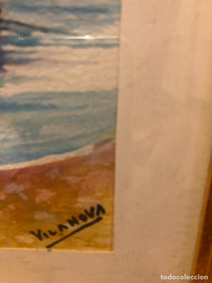 Arte: 2 acuarelas marinas con firma - Foto 4 - 178981087