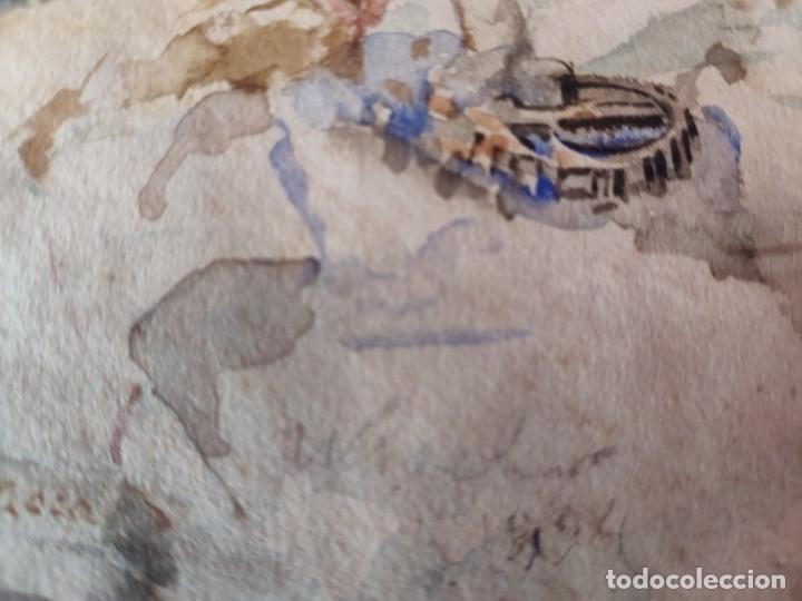 Arte: ACUARELA BOCETO ALEGORÍA DEL COMERCIO, FIRMADO WSSEL - 1000-005 - Foto 19 - 43135690