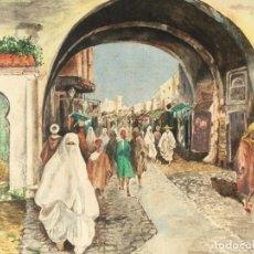 Arte: MARIANO BERTUCHI NIETO (GRANADA 1885-TETUÁN 1955) ATRIBUÍDO OBRA ORIENTALISTA. Lote 179013596