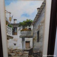 Arte: ACUARELA DE NICOLÁS BERMÚDEZ(ALUMNO DE RAFAEL GARCÍA BONILLO).MECINA FONDALES,AL PUJAR A(GRANADA). Lote 179048837