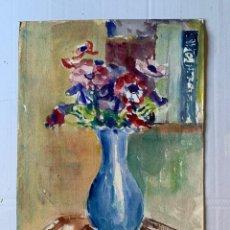 Arte: SIMÓ BUSOM GRAU - JARRÓN CON FLORES. Lote 180013281