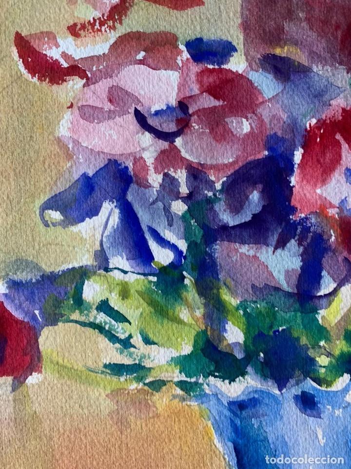 Arte: SIMÓ BUSOM GRAU - JARRÓN CON FLORES - Foto 3 - 180013281