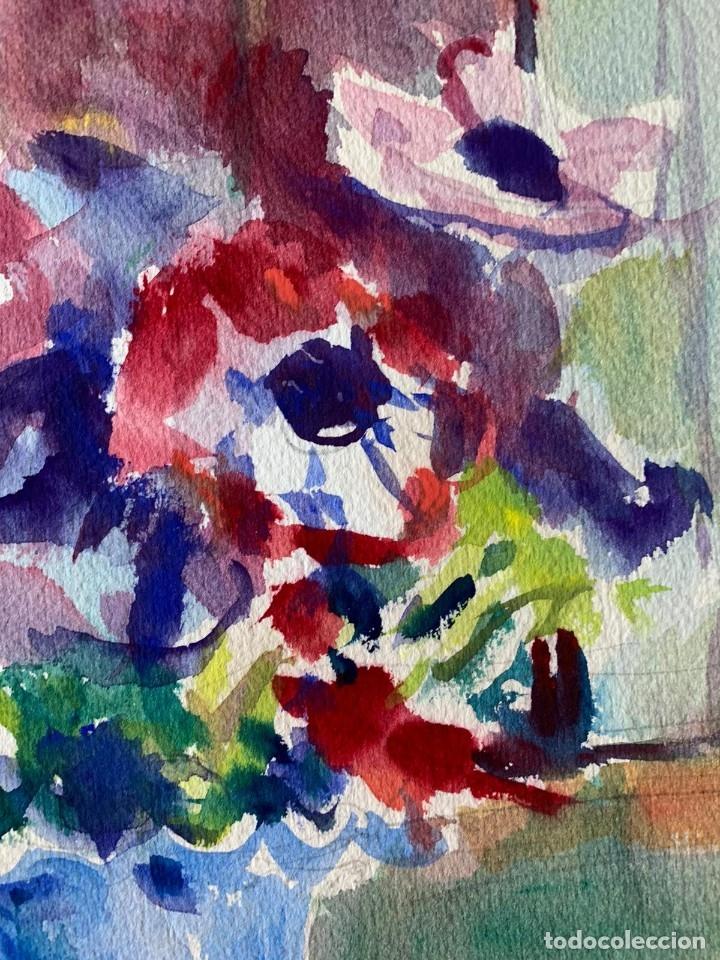 Arte: SIMÓ BUSOM GRAU - JARRÓN CON FLORES - Foto 5 - 180013281
